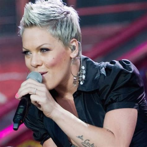 singer pink short hair short hair by pink the singer p nk pinterest