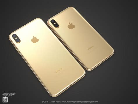 iphone x apple iphone x goes gold thanks to martin hajek concept