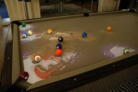 Water Pool Table by Obscura Cuelight Adds Special Effects To Pool