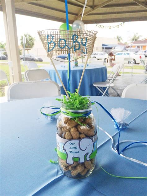 Elephant Boy Baby Shower Decorations by Elephant Center Boy Baby Shower Baby Blue Peanuts Green Email Kycedoshop Gmail For