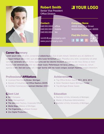 personal profile design templates professional profile templates
