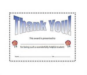 thank you certificate template free sle thank you certificate template 10 documents