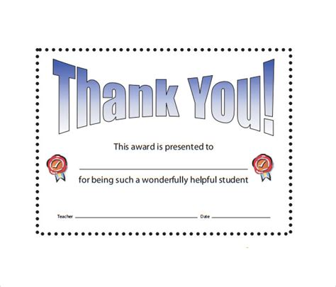 free thank you certificate templates sle thank you certificate template 10 documents