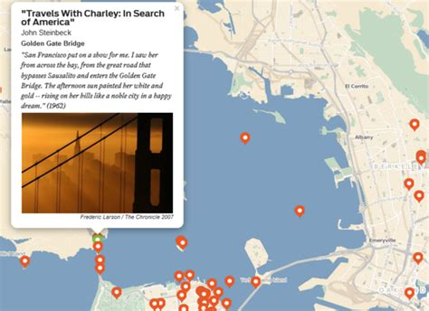 san francisco literary map the bay area gets litmapped by the san francisco chronicle