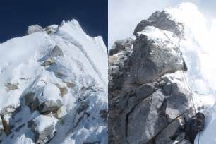 film everest hillary mount everest s hillary step collapses mountaineers