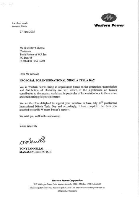 Offer Letter Format Central Government Nikola Tesla Day Tesla Image