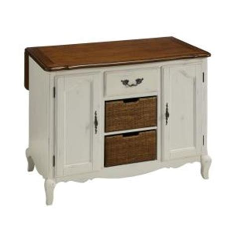 home depot kitchen islands home styles countryside 48 in w drop leaf kitchen island in oak and rubbed white 5518 94