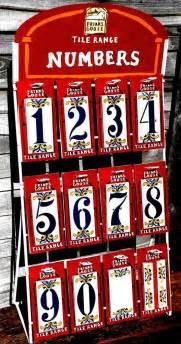 Ceramic house number tile ebay