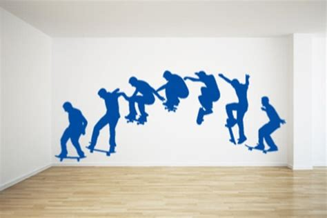 skateboard wall stickers skateboard wall sticker wallstickerdeal