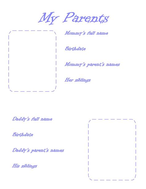 printable baby book template pages family picture page