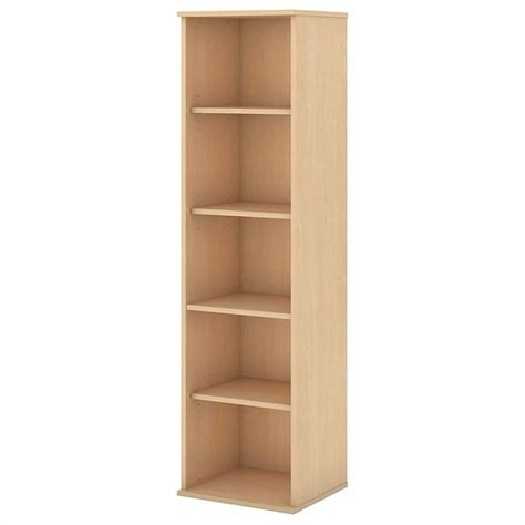 South Shore Narrow Bookcase Bush Business 66h 5 Shelf Narrow Bookcase In Natural Maple