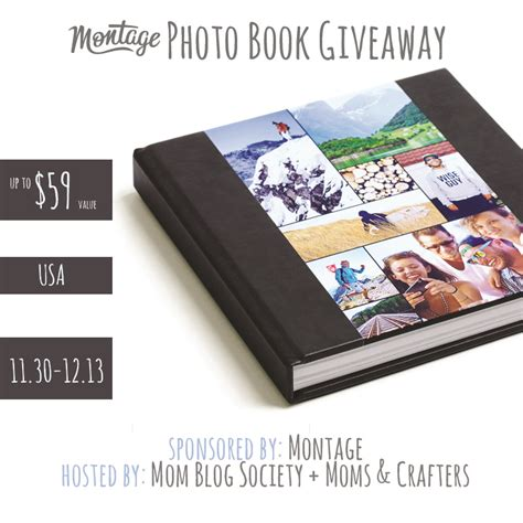 Book Blog Giveaways - montage photo book giveaway mom blog society