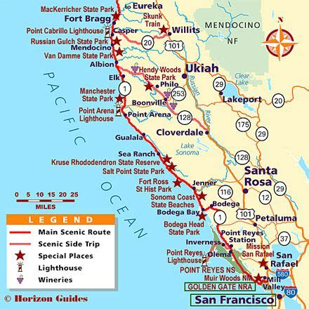 map of n california coast pin by kramer on travel