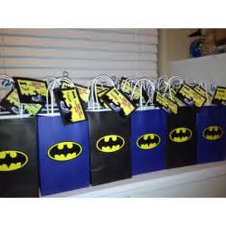 Batman Favor Ideas by Batman Bags Bags