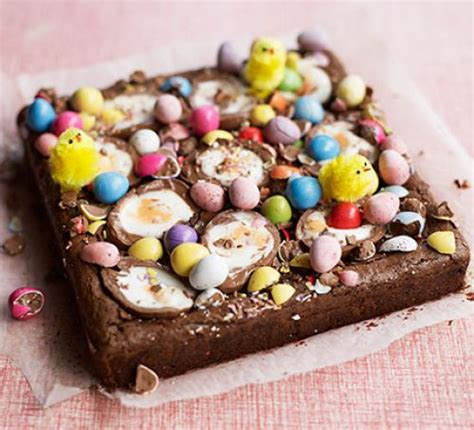 easter recipes easter egg brownies recipe bbc good food