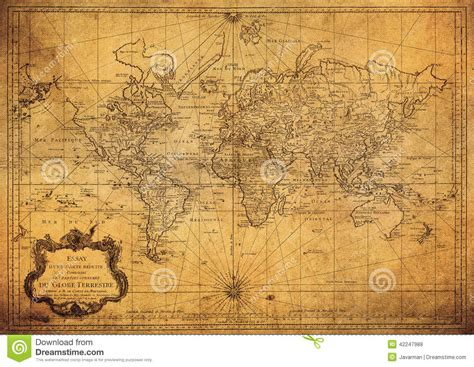 i vintage vintage map of the world 1778 editorial stock photo