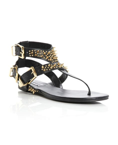 Sandal Studed steve madden studup sm studded ankle sandals in black lyst