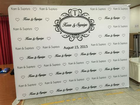 Wedding Step And Repeat Banner by Logo Walls For Weddings