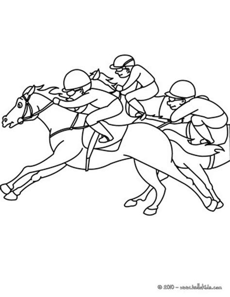 horse race coloring pages hellokids com