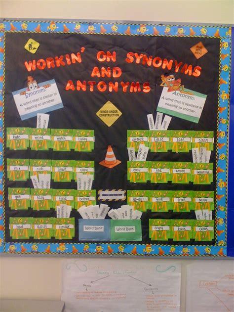 Synonyms For Decoration by Antonym Synonym Bulletin Board Idea Vocabulary