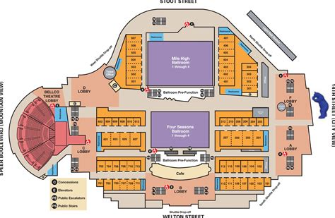 venue directory and map colorado convention center