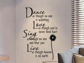 Wall decals for teens girls bedroom wall decal dance as though no