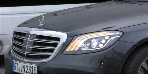 mercedes s class headlights 2018 mercedes s class prototype shows production