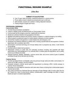 Exles Of A Summary For A Resume by Resume Help Qualifications