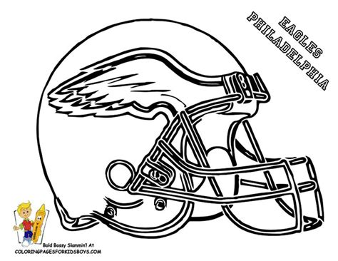 football card coloring page 30 best philadelphia eagles printables images on pinterest