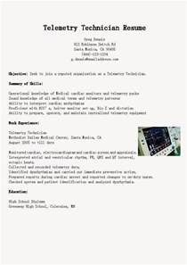 Telemetry Technician by Resume Sles Telemetry Technician Resume Sle