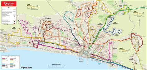 printable maps brighton brighton bus map