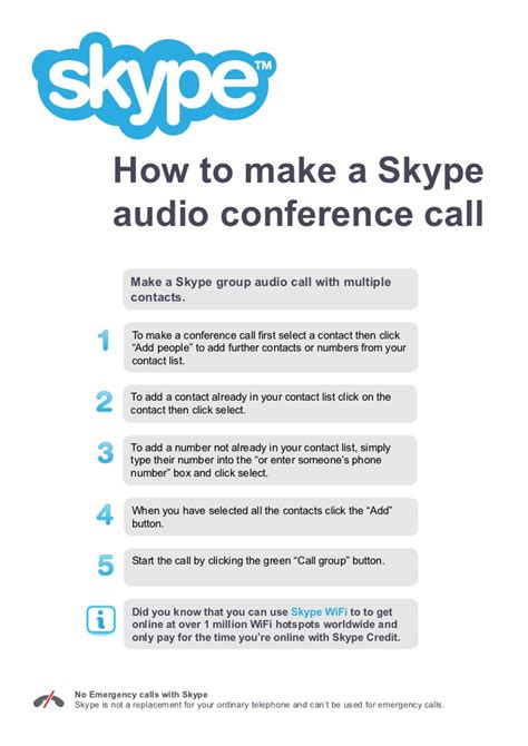 Make An International Conference Call by How To Make A Skype Audio Conference Call