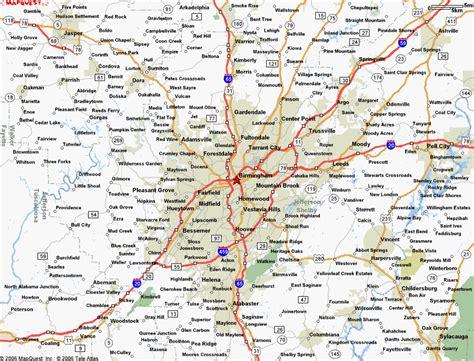 birmingham usa map awesome map of birmingham alabama travelsmaps