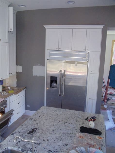 gray kitchen walls kitchen gray walls white cabinets i love the way these
