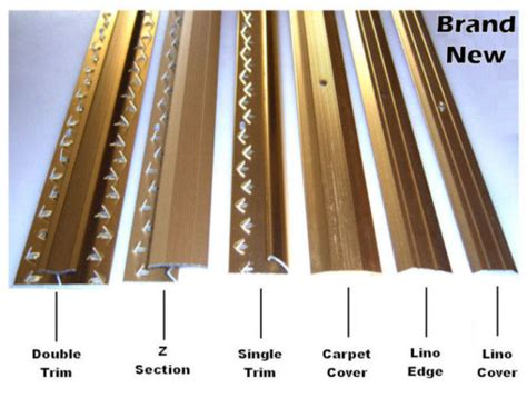 Z Section Carpet Trim by Various Carpet Or Lino Door Edge Bars For Sale In