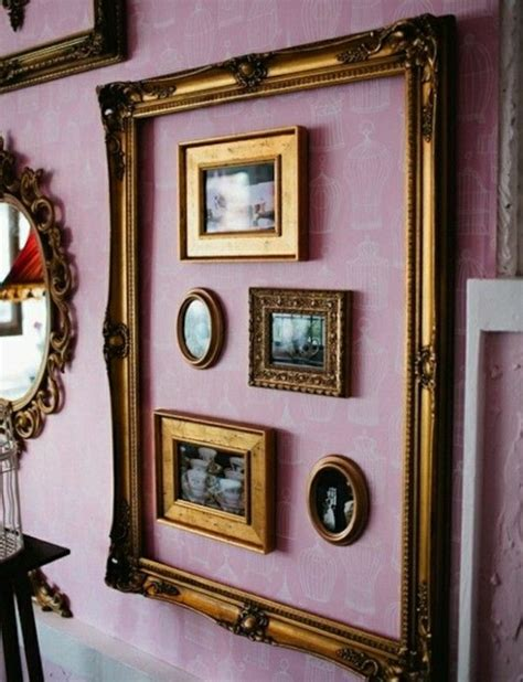 decorar marcos de fotos vintage 1001 ideas originales sobre c 243 mo decorar con fotos