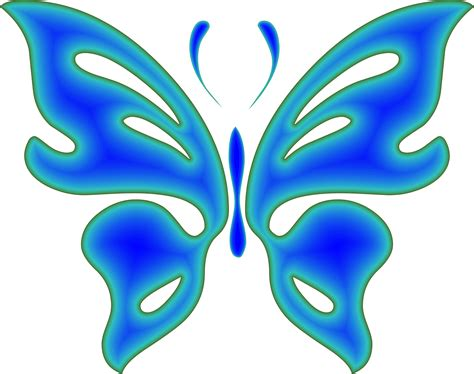 clipart blue radiative butterfly