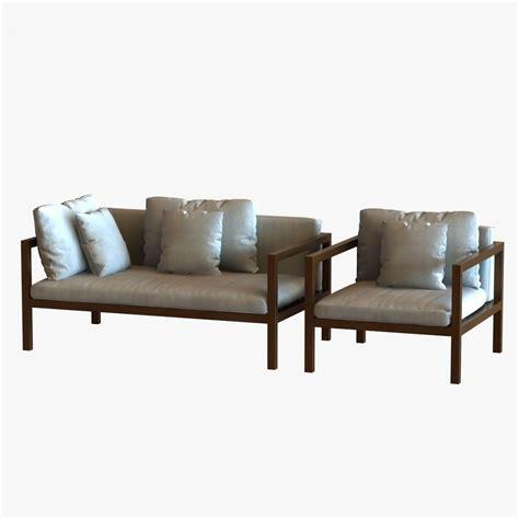 landscape sofa kettal landscape sofa and chair 3d model max 3ds fbx