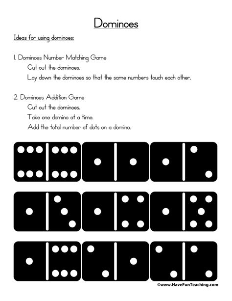 printable domino cards printable dominoes have fun teaching