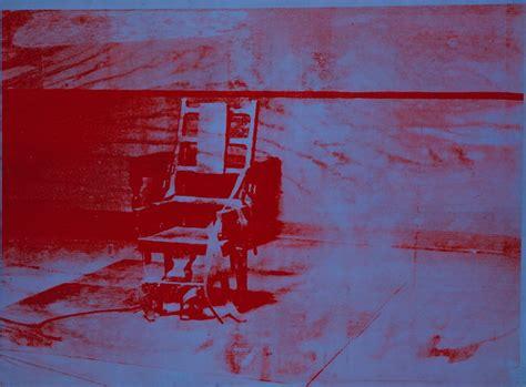 andy warhol sedia elettrica andy warhol unlimited