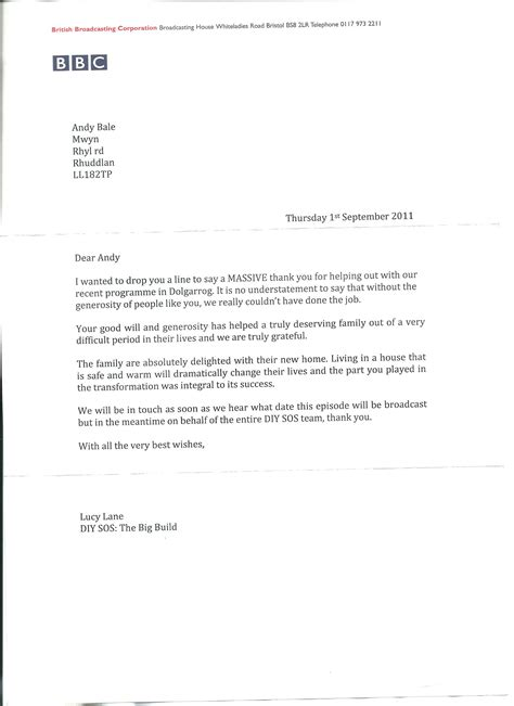 Service Member Thank You Letter Electricians In Wales Coba Electrical Services Wales