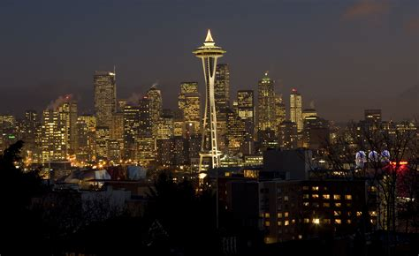 ready to hang christmas lights try the space needle at