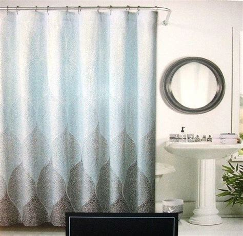 cynthia rowley drapes cynthia rowley fabric shower curtain leaf leaves aqua blue