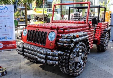 jeep made jeep made of cans benefits worthy cause kendall jeep