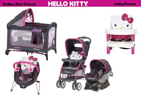 Car Seat Mobil 9 In 1 Motif Hello Merah Kombinasi Putih the baby trend hello collection in polka dot floral