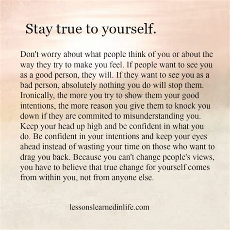 9 Ways To Stay True To Yourself by Lessons Learned In Lifestay True To Yourself Lessons