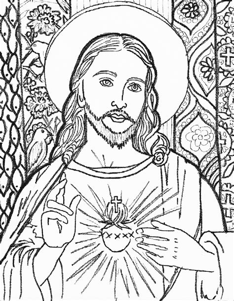 coloring pages jesus christ camilla spadafino art