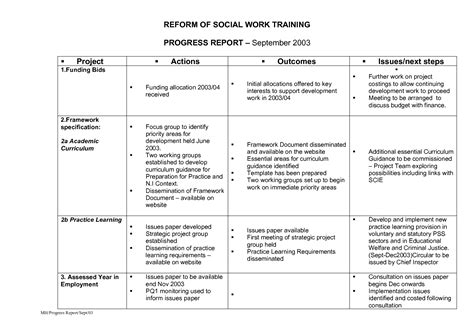 Social Work Report Template