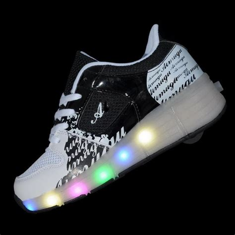 Sepatu Led Shoes Junior child jazzy heelys junior boys led light heelys children roller skate shoes
