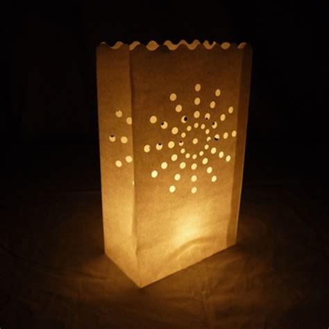 sunburst paper luminaries luminary lantern bags path
